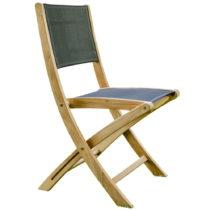 Sada 2 skladacích záhradných stoličiek z teakového dre...