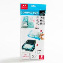 Sada 2 modrých vákuových obalov na oblečenie Compactor, 50&...
