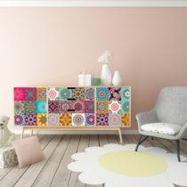 Sada 60 samolepiek na nábytok Ambiance Tiles Stickers For Furniture Ugo, 20&#...