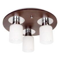 Stropné svietidlo s 3 žiarovkami s drevenou základňou Atlas Ro...