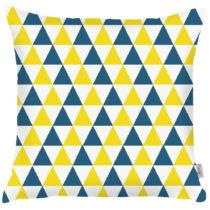 Modro-žltá obliečka na vankúš Apolena Triangles, 43&...