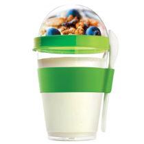 Zelený desiatový téglik Yo2GO, nová edícia 360 ml