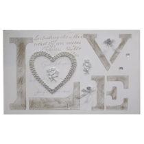 Obraz s rámom z jedľového dreva Mauro Ferretti Love, 90&#x...