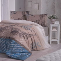Modré obliečky s plachtou na jednolôžko Paris Polly, 160&#...
