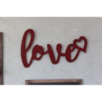 Vianočná nástenná dekorácia Love, 42 x 2 x 25 cm