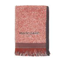 Červený uterák Marie Claire Colza, 40x60cm