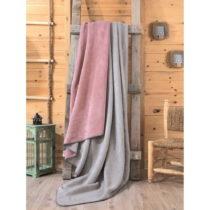 Sivo-ružová deka Mily, 200×220 cm