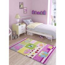 Detský koberec Confetti Patchwork Pink, 100×150 cm