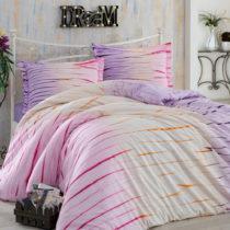 Ružové obliečky s plachtou na dvojlôžko z bavlnen&am...