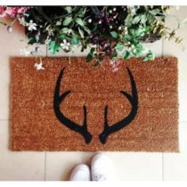 Rohožka Doormat Deer Horns, 70 × 40 cm