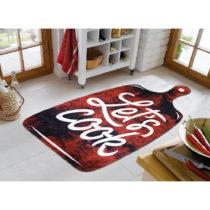 Koberec Vitaus Lets Cook Red, 100 × 160 cm