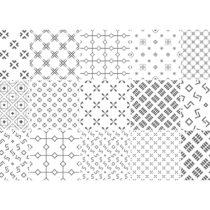 Sada 15 dekoratívnych samolepiek na stenu Ambiance Tanyka, 10×...