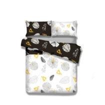 Flanelové posteľné obliečky AmeliaHome Floral Rain, 155 x 220 ...