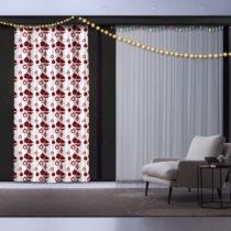Vianočný záves Christmas Atmosphere, 140 x 260 cm