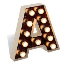 Voľne stojacia svetelná dekorácia v tvare písmena Glimte Lamp F...