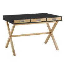 Antracitovosivý pracovný stôl Marckeric Leidi