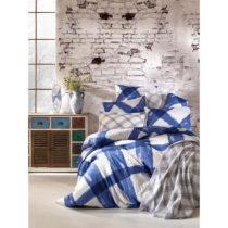 Bavlnené obliečky s plachtou na dvojlôžko Sanura Azul, 200 &am...