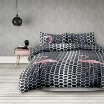 Obliečky z mikrovlákna obliečky AmeliaHome Flamingo Dark, 140 x 200 cm ...