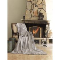 Béžová bavlnená deka mismo Linen, 170×&#...