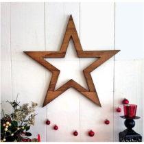 Vianočná nástenná dekorácia Hello Star, 62 x 1,8 x 62 ...