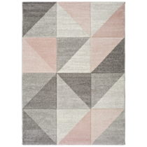Ružovo-sivý koberec Universal Retudo Naia, 140×200 c...