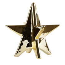 Dekoratívna keramická hviezda Villa Collection Ceramic Gold, 13 cm