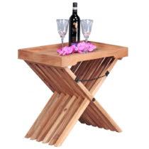 Skladací stolík z masívneho akáciového dreva s odn&...