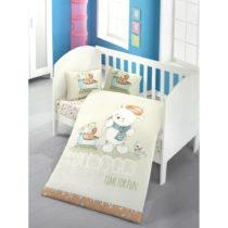 Set bavlnenej detskej obliečky s plachtou Soft Bear, 100 × 150 cm