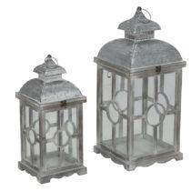 Sada 2 lampášov s konštrukciou z jedľového dreva Mau...