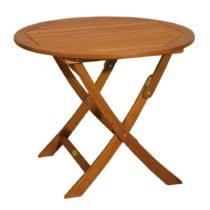 Záhradný skladací stôl z eukalyptového dreva ADDU Stock...