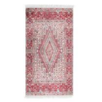 Zamatový koberec Deri Dijital Maluna Red, 80×150 cm