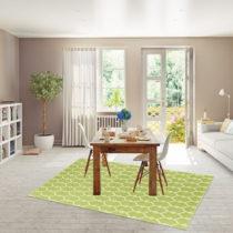 Zelený vysokoodolný koberec vhodný do exteriéru Floorita Trellis...