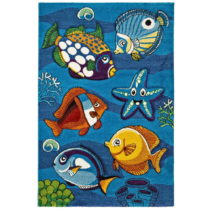 Modrý detský koberec Unoversal Underwater, 120×170 cm