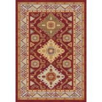 Červeno-béžový koberec Universal Khalil Red, 160 x 230 cm