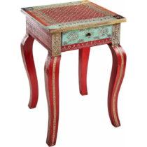 Červený odkladací stolík z mangového dreva St&#xF8...