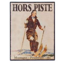 Nástenná ceduľa Antic Line Hors Piste, 25 x 33 cm