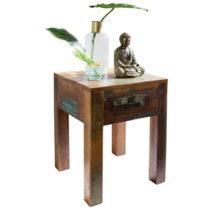 Odkladací stolík so zásuvkou z recyklovaného mangového ...