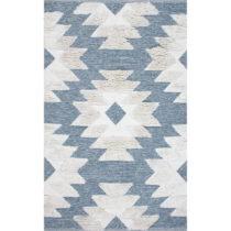 Bavlnený koberec Garida Blue Indian, 80×150 cm