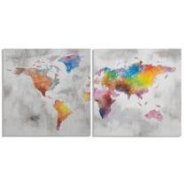 Viacdielny ručne maľovaný obraz Mauro Ferretti Crazy World, 200&#xA...