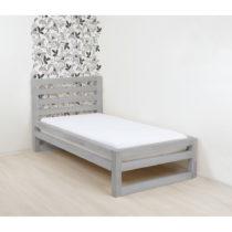 Sivá drevená jednolôžková posteľ Benlemi DeL...