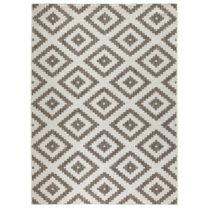 Hnedý vzorovaný obojstranný koberec Bougari Malta, 200&#xD7...