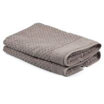 Sada 2 béžových uterákov zo 100% bavlny Mosley, 50&am...