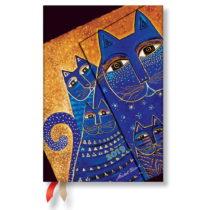 Diár na rok 2019 Paperblanks Mediterranean Cats Horizontal, 10 x 14 cm