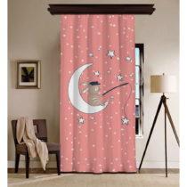 Ružový záves Curtain Moon, 140×260 cm
