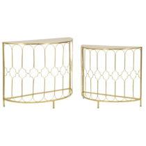 Sada 2 konzolových stolíkov s konštrukciou v zlatej farbe Mauro Ferretti...