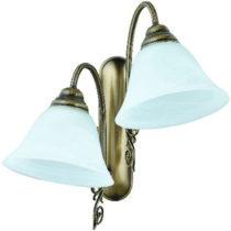 Dvojramenné nástenné svietidlo s tyrkysovým tienidlom Glimte Blu...