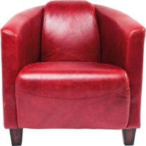 Červené kreslo Kare Design Cigar Lounge