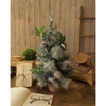 Sada 2 zasnežených vianočných stromčekov Orchidea Mi...