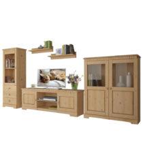 3-dielny obývací set z masívneho borovicového dreva Stø...