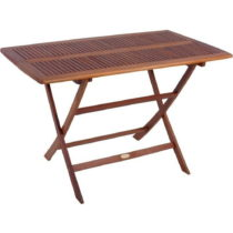 Záhradný skladací stôl z eukalyptového dreva ADDU Orlan...